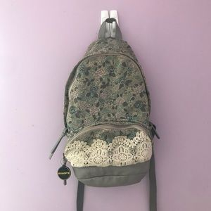 Tilly's Floral Lace Backpack
